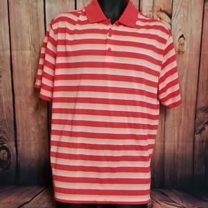 EUC Nike golf shirt dri-fit large red orange